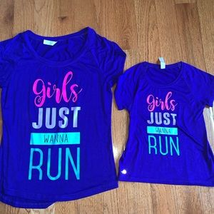Mommy and Me Matching Work Out Tops Shirts